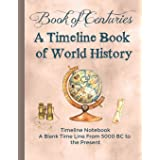 Book of Centuries A Timeline book of World History Timeline Notebook A Blank Time Line from 5000 BC to the Present