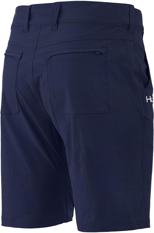 HUK Mens Next Level 10.5 Outdoor Adjustable Waistband Lightweight Quick Dry Fishing Shorts