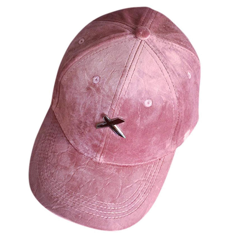 Wension Velvet Baseball Cap Women Couple Baseball Cap for Women Men Snapback Hip Hop Flat Hat