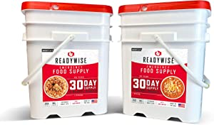 ReadyWise 30-Day Emergency Food Supply | 2 Buckets | 1,800 Calories Per Day | 50G Protein Per Day