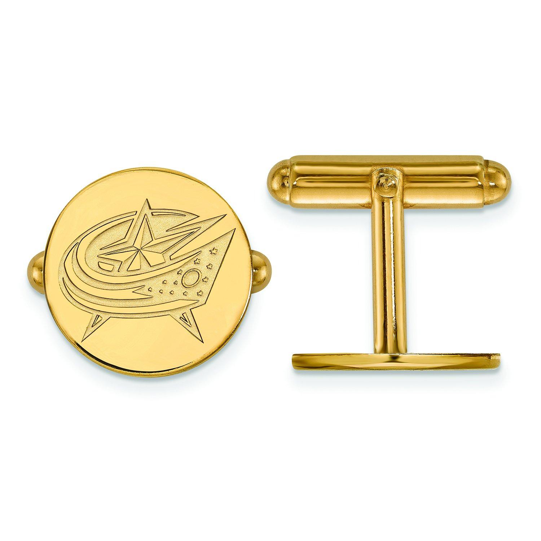 Columbus Blue Jackets Cuff Links (14k Yellow Gold) by LogoArt