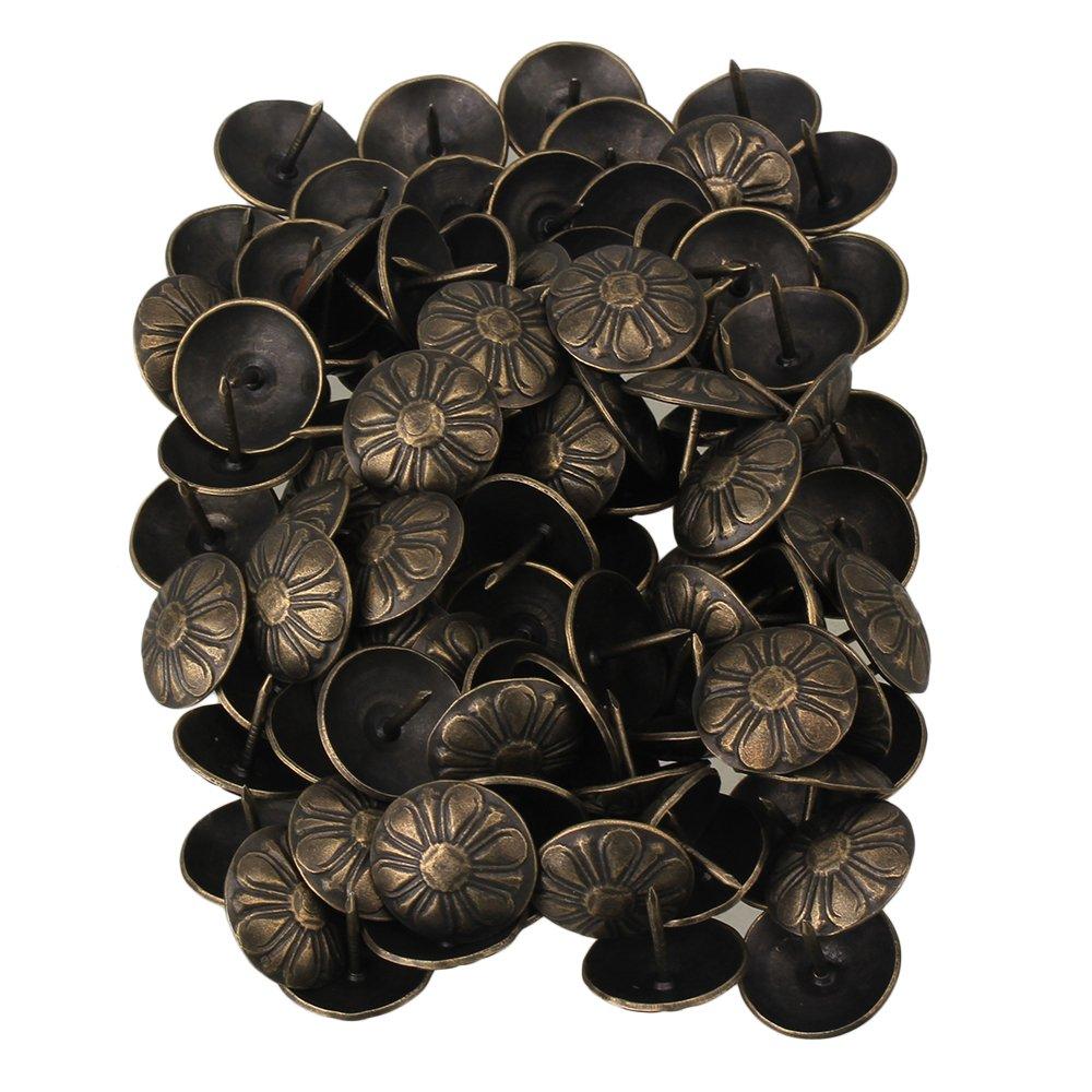 Yibuy Vintage Clous tapissier punaises Clous é pingles de Dé coration de la Maison, Bronze, 0.63 x 0.43 inch (L x Dia) etfshop