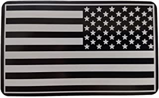 """product image for HMC Billet Army Patch American Flag Laser Engraved Trailer Hitch Cover - 4"""" x 6"""""""