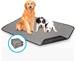 2 in 1 Reusable Pee Pad Dog Waterproof Crate Mat, 2PCS HomJoy Absorbent Pet Training Pads with Leakproof Waterproof Whelping