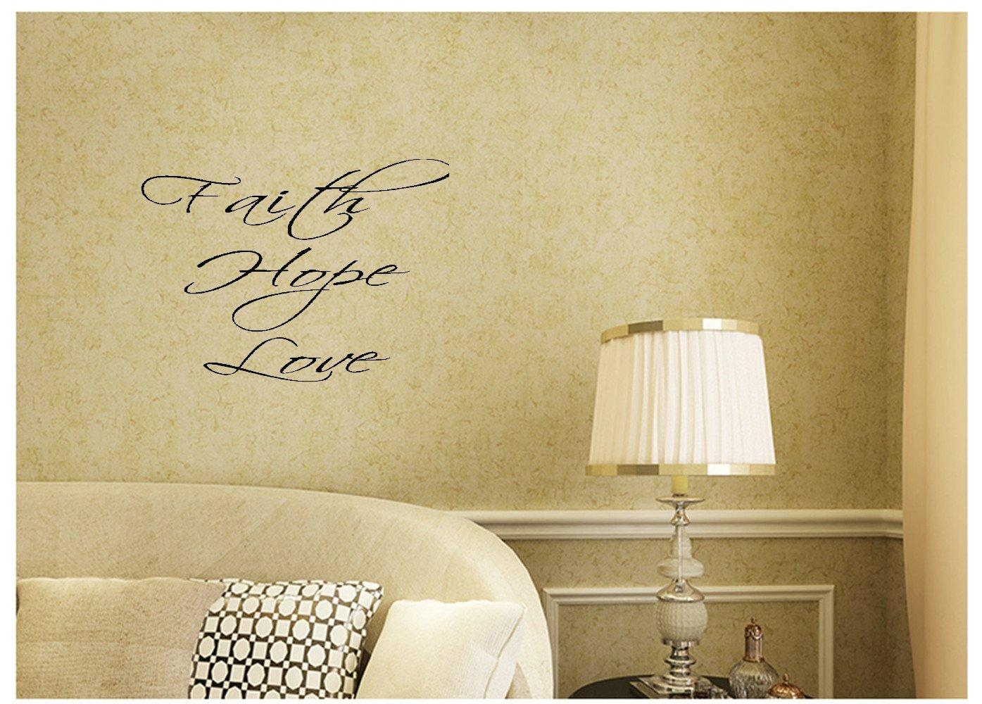 Amazon.com: Faith Hope Love Wall Decal Decor Words Large Nice ...