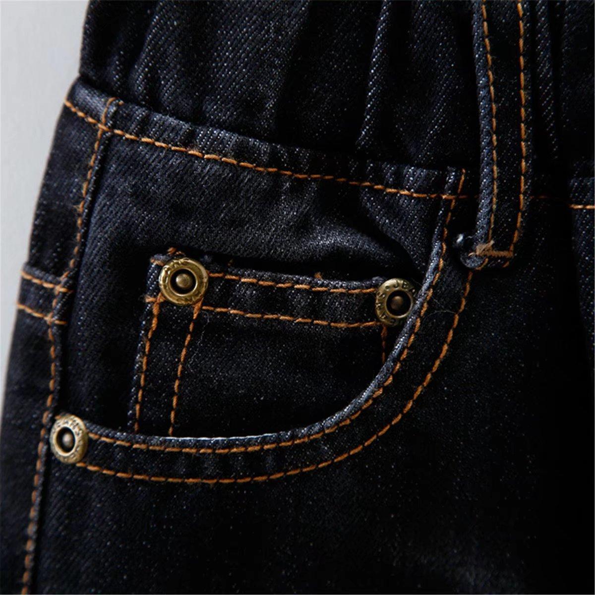 Ameyda Unisex Kids Baby Ripped Holes Jeans Washed Denim Pants