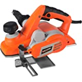750W Corded Electric Planer 82mm Width for Wood Planing Orange Color SCEP3173
