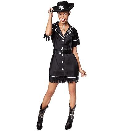 dressforfun Disfraz de Vaquera para Mujer | Vestido con cinturón ...