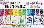 Tulip One-Step Tie-Dye Kit Refills 30 Pack, Rainbow Tie Dye