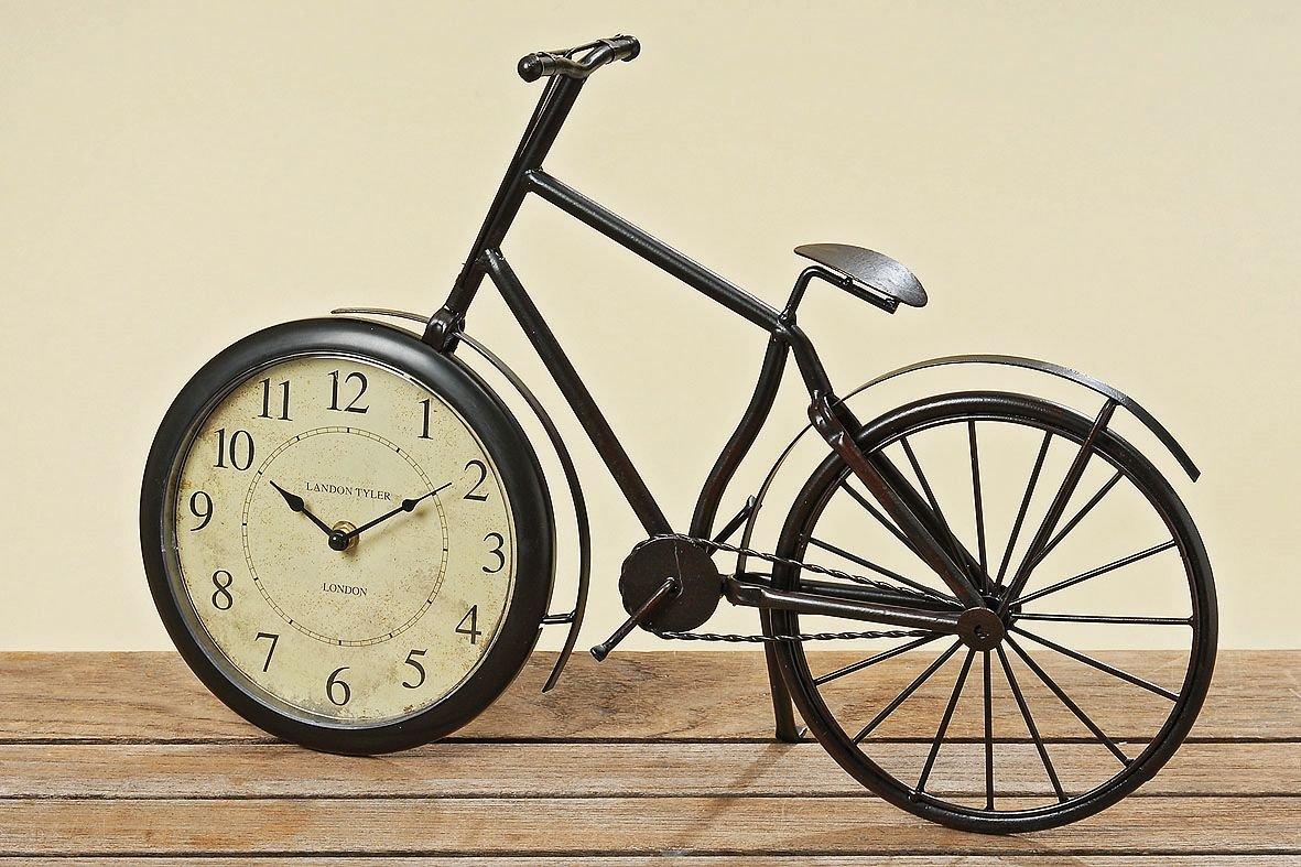 GILDE Fahrrad Uhr Tischuhr Männergeschenk Schreibtisch Büro
