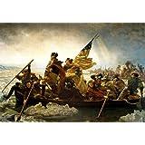 Washington Crossing the Delaware River Poster by Emanuel Leutze 36 x 24in