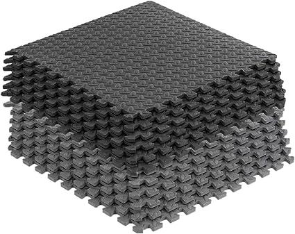 Grey Interlocking Mat Yoga Exercise Gym Fitness Gymnastics Soft Foam Floor Mats