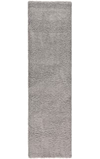 A2Z RUG SOFT SUPER THICK SHAGGY RUGS Silver 230X60 CM   7.5X2 FT RUNNER  AVAILABLE