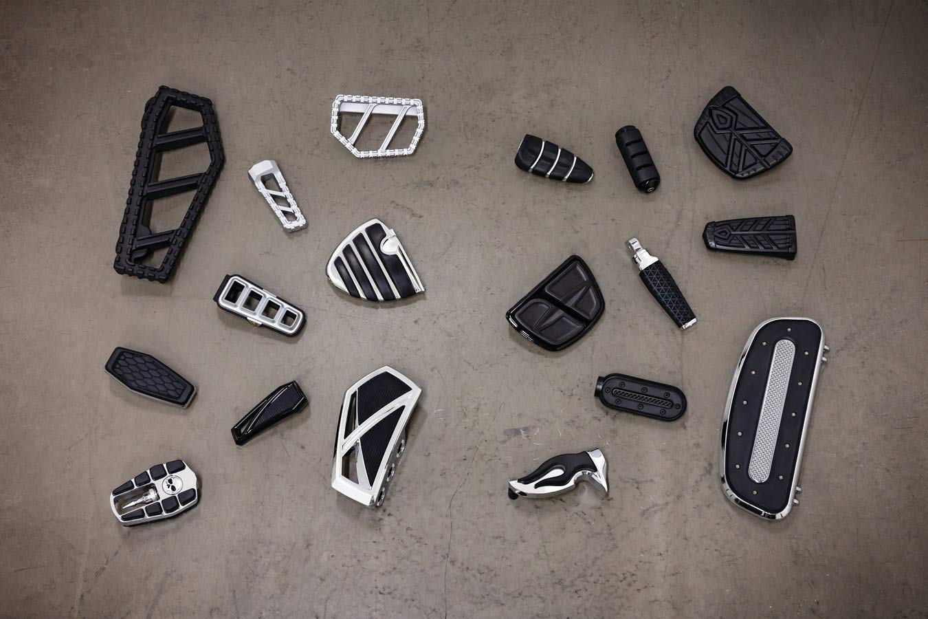 1 Pair Satin Black Kuryakyn 5653 Motorcycle Foot Control Component Spear Mini Board Floorboards