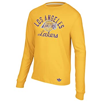 adidas NBA Los Angeles Lakers Oro, Camiseta de Manga Larga ...