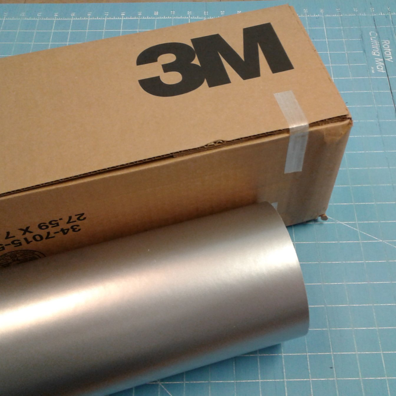 24'' x 100 Ft Roll of Silver 3M Scotchcal Series 50 Vinyl for Craft Cutters and Vinyl Sign Cutters