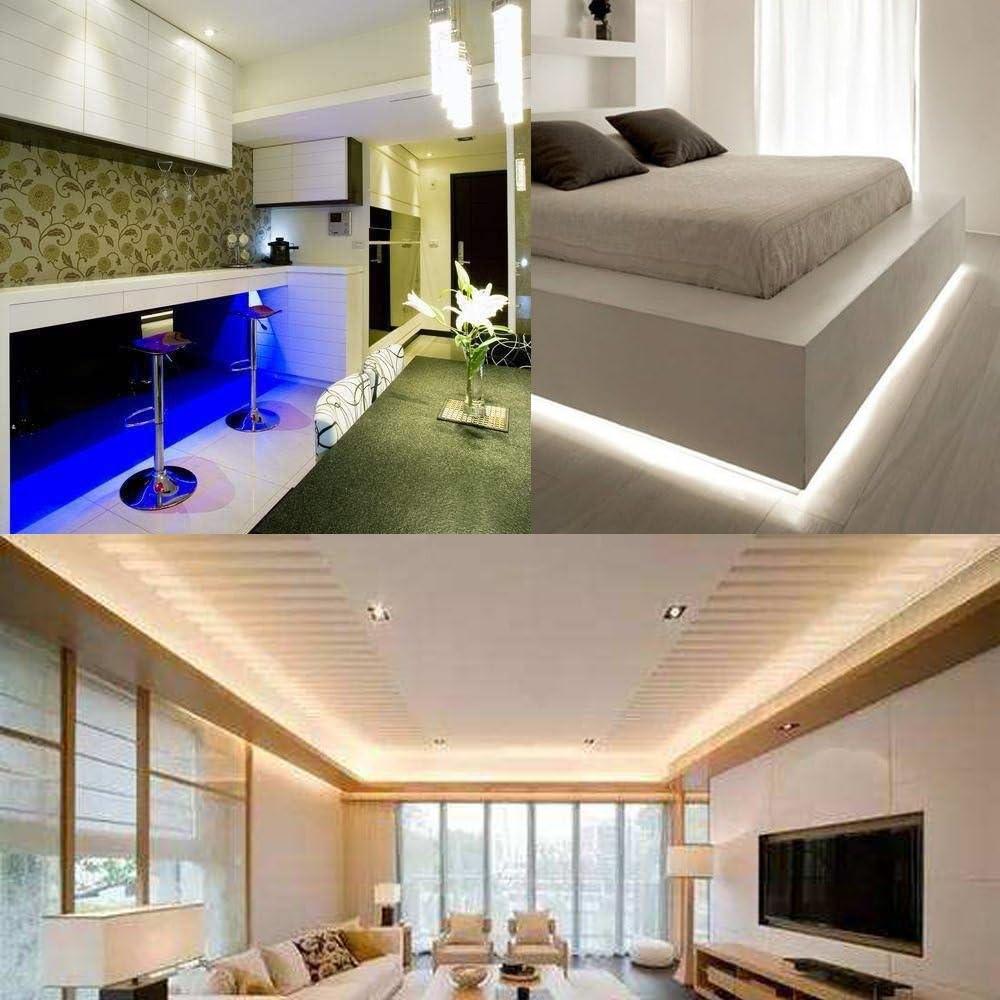 VGO® 20M LED Strip RGB LED Streifen Wasserdicht Lichtband dimmable  Außenbereich led strip Fernbedienung Wohnzimmer Schlafzimmer (20 LEDs/m)
