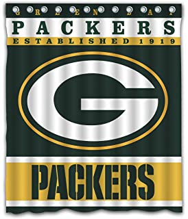 Sonaby Custom Green Bay Packers Waterproof Fabric Shower Curtain For Bathroom Decoration 60x72 Inches