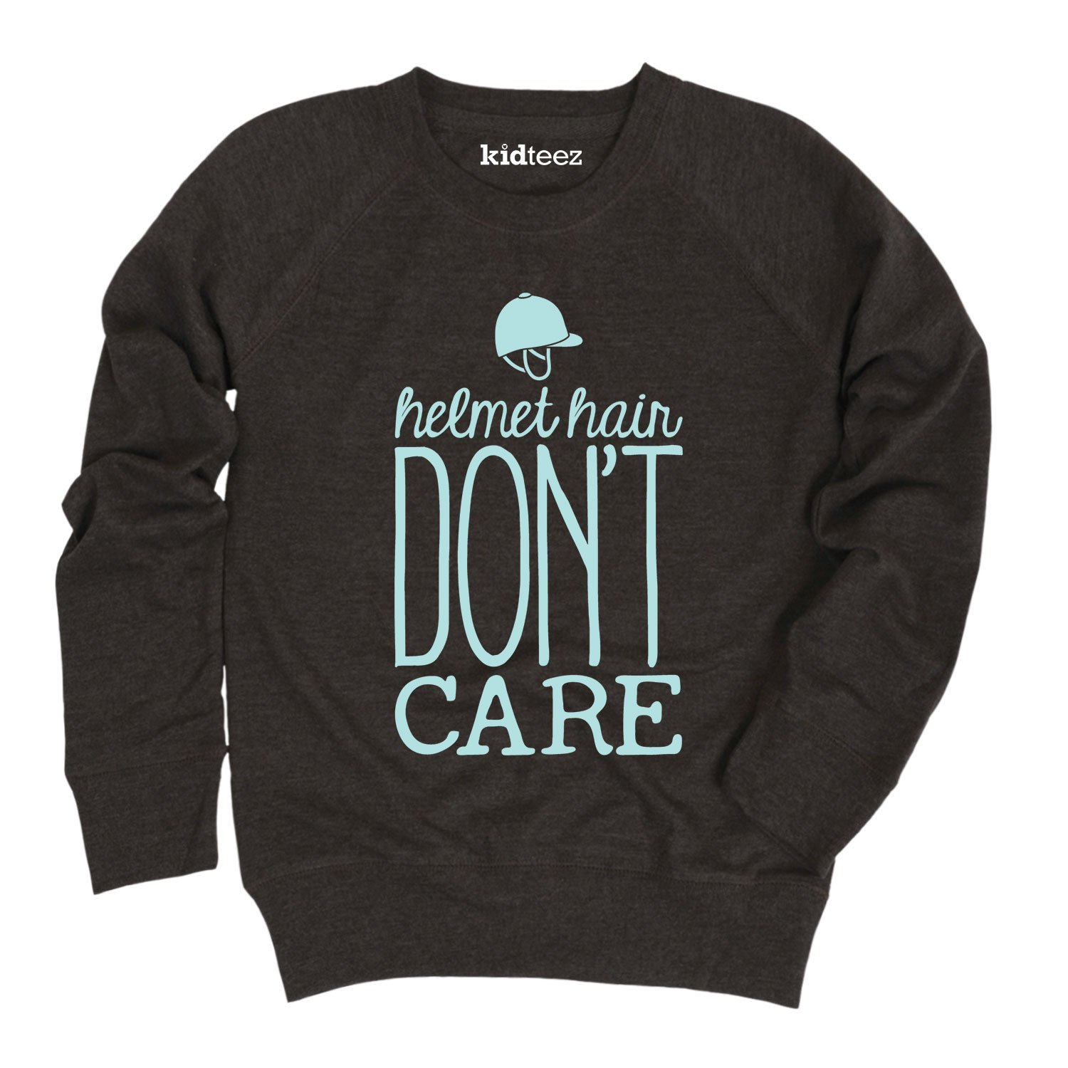 Air Waves Helmet Hair Dont Care-Youth Girls Slouchy Pullover