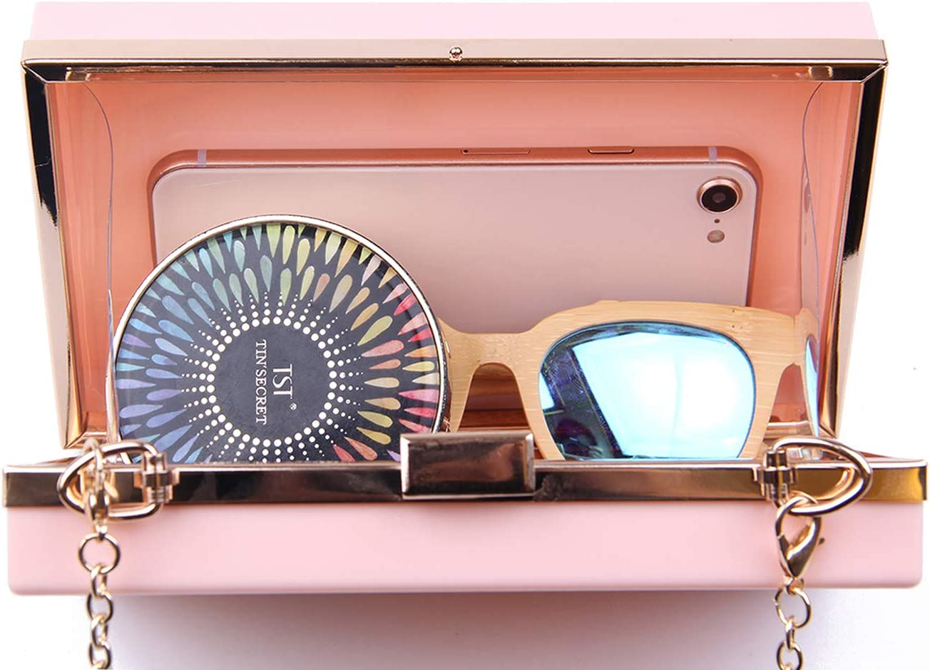 EVEOUT Femmes Acrylique De /À La Mode Transparent Soir/ée Embrayages//Femmes Acrylique Noir Paris Parfum Forme Sac De Soir/ée Bo/îte Claire Gel/ée Sac /À Main Cross Body Purse Sac Dames Cadeau