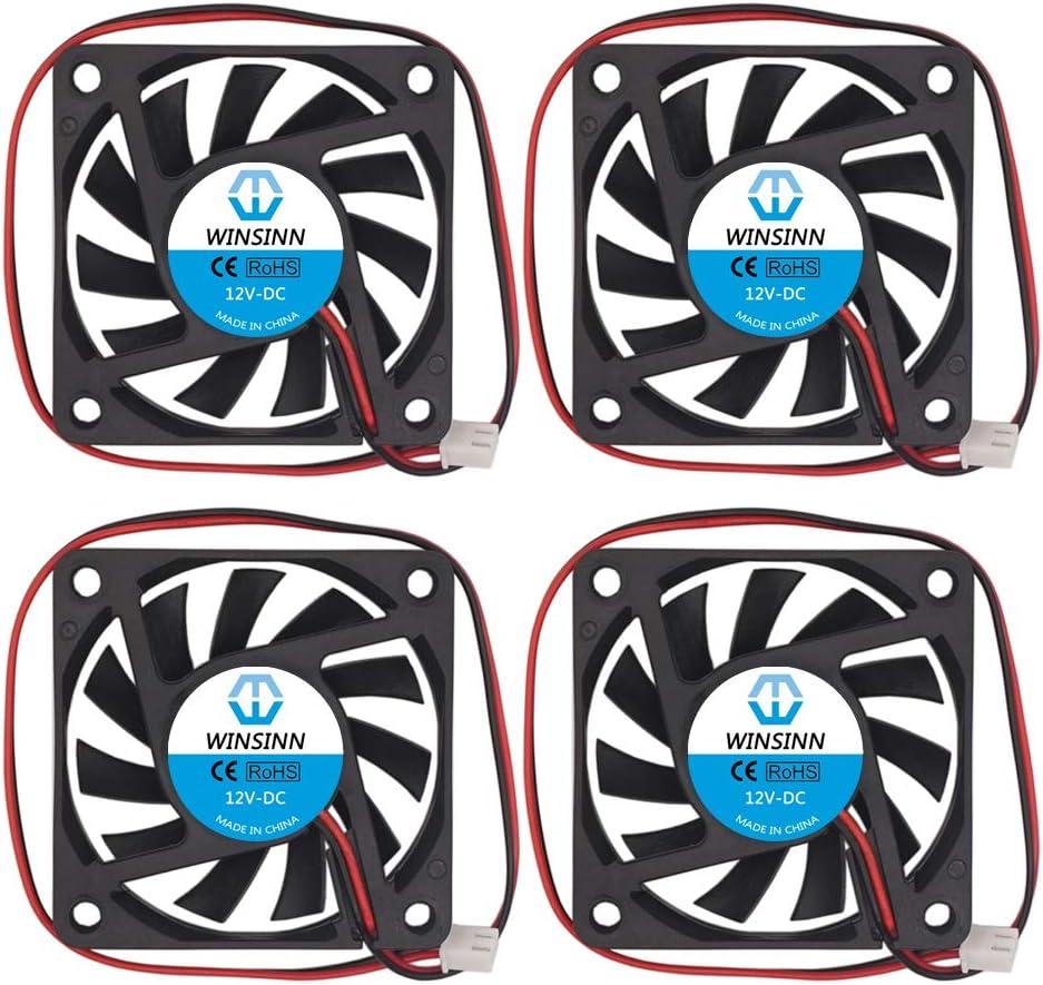 WINSINN 60mm Fan 12V Brushless 6010 60x10mm - Quiet (Pack of 4Pcs)