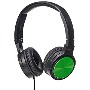 AmazonBasics Lightweight On-Ear Headphones - Green