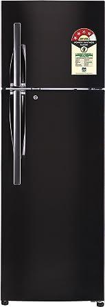 LG 375 L 4 Star Frost Free Double Door Refrigerator(GL-T372JBLN.DBLZEBN, Black Steel, Inverter Compressor)