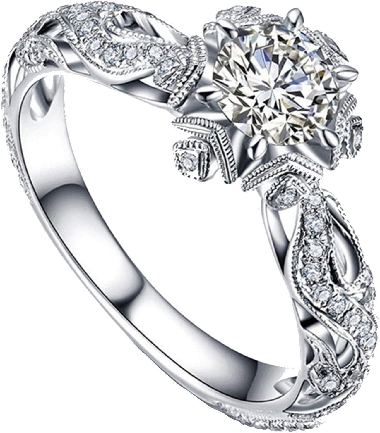 USStore Valentine's Day Jewelry Gift - Creative Cute Ring Animals Ladies Full Diamond Microinlaid Zircon Anniversary Rings (5, A)