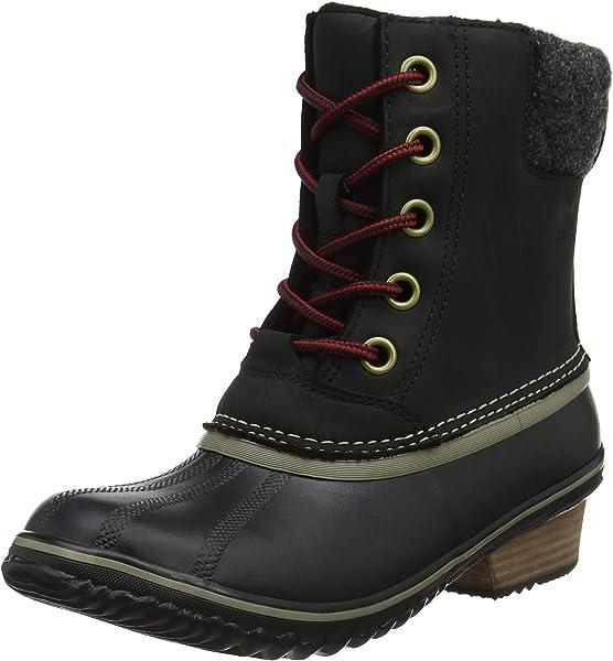 7c3f4cd1a9f1 SOREL Women s Slimpack Lace II Snow Boot Black