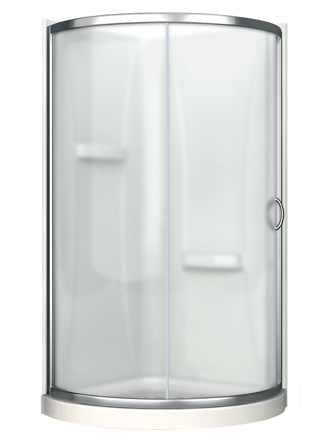 Ove Decors Breeze 38 withwalls Premium 38-Inch Shower Kit with Acrylic Base and Walls and Clear Glass Sliding Door