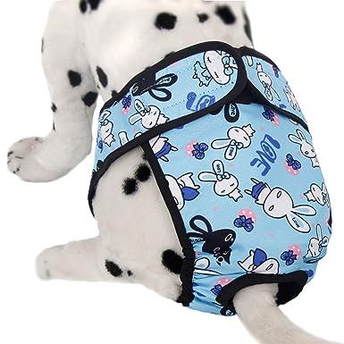 Xinanlongjb Pañal del animal doméstico del Washnable, perro Sanitary Pantie con la cinta mágica para