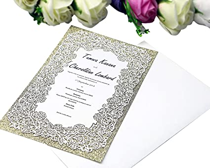 amazon com ponatia 25pcs customizable printable glitter invitation