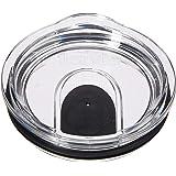 Tervis 滑动盖不锈钢玻璃杯 透明黑色 For 12 oz and 20 oz Stainless Steel 1308461