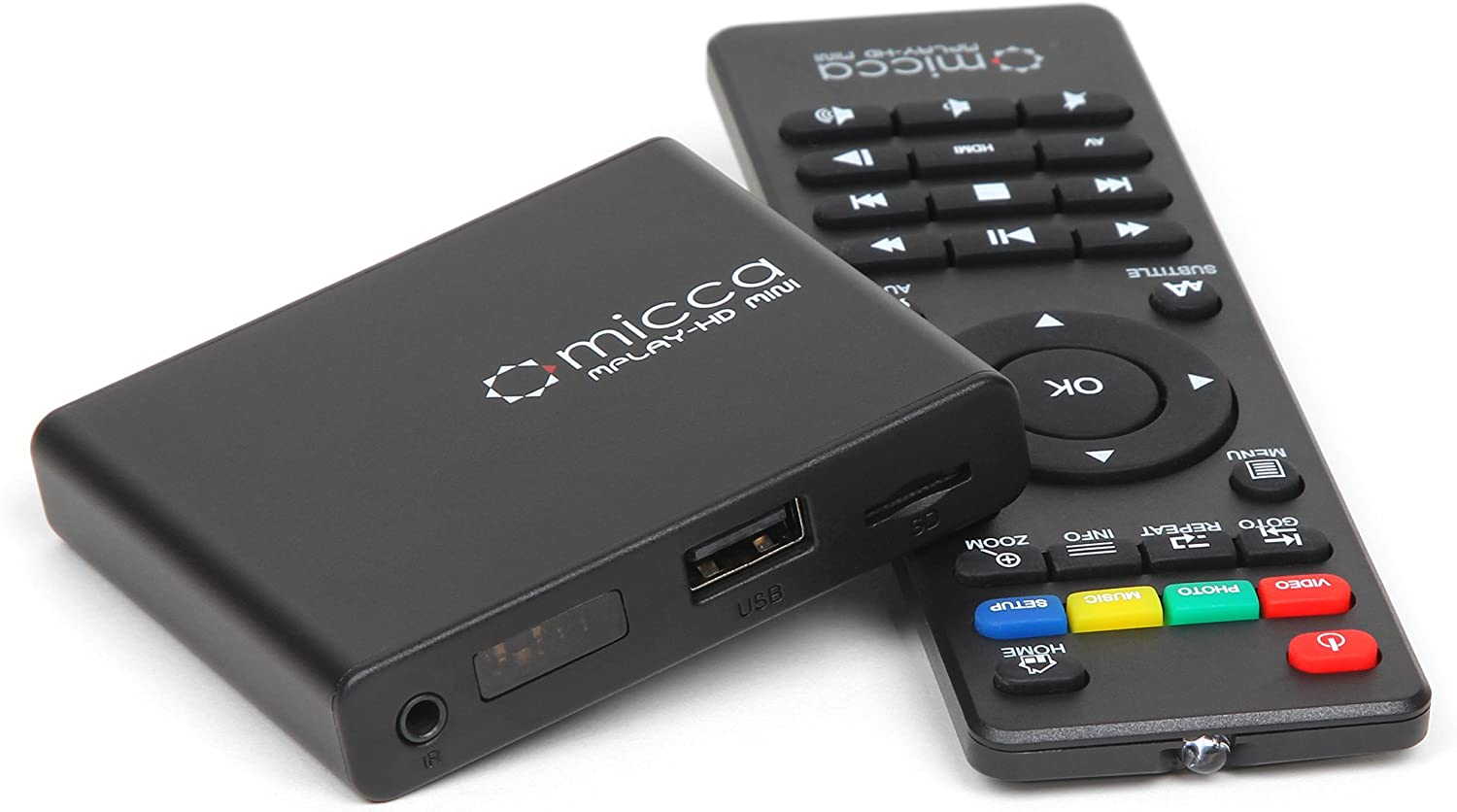 Micca MPLAY-HD Mini 1080P Full-HD Digital Media Player for USB Drives and SD Cards