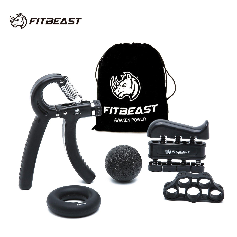 Kit de entrenamiento FitBeast, empuñadura de mano, empuñadura de antebrazo, paquete de 5