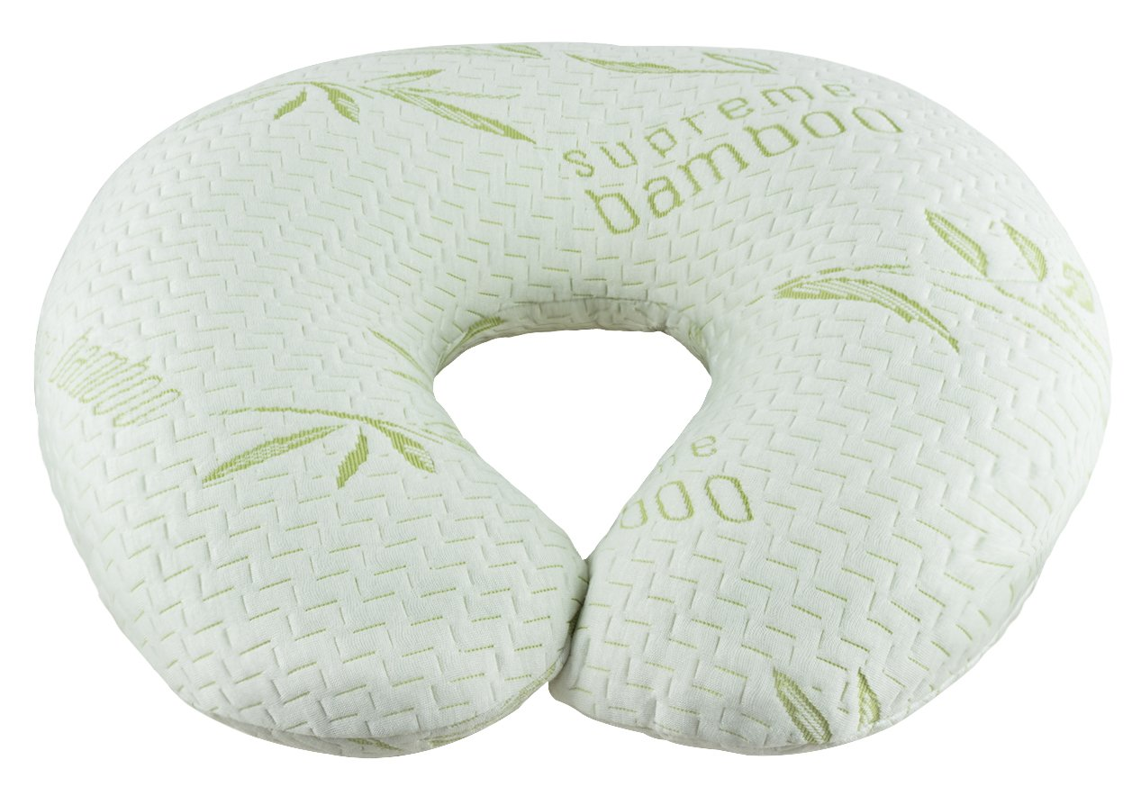 Supreme Bamboo Nursing Pillow and Positioner | Large 20'' x 19'' Cushion | Machine Washable Slip-On Protective Cover | Infant Support Pillow by Supreme Bamboo