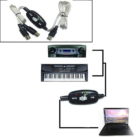 Cable MIDI USB adaptador Conversor para Conectar Teclado Organo a PC Mac 2256: Amazon.es: Electrónica