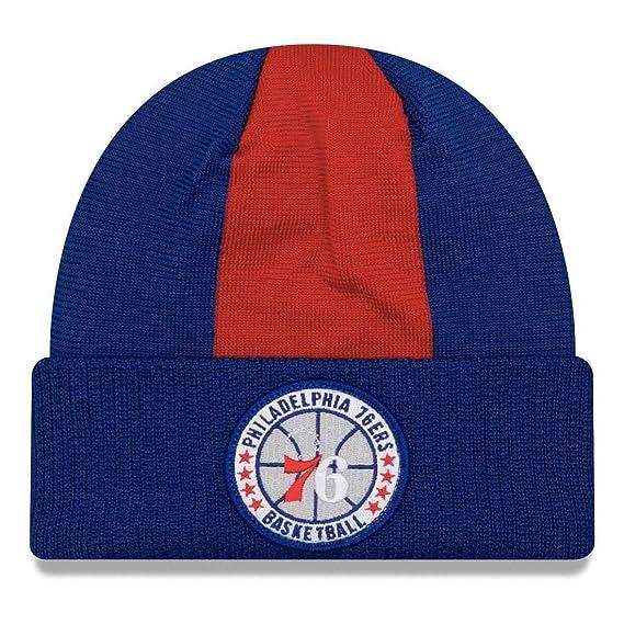 71e59584553b37 New ERA Philadelphia 76ers NBA tip-Off Beanie hat [Blue/red]: Amazon.co.uk:  Clothing