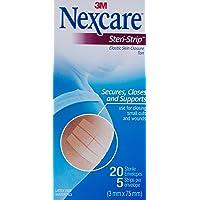 Nexcare Steri-Strip Skin Closures Elastic, Tan, 3Mm X 75Mm