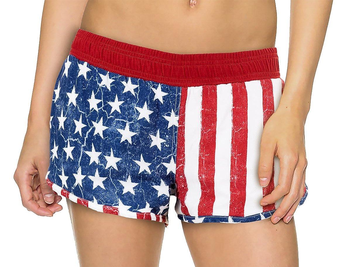 Calhoun Women's USA Flag Boardshorts Calhoun Sportswear