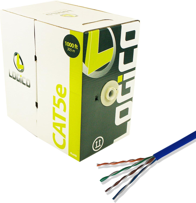 Cat5e 1000 feet Utp Solid Blue Network Ethernet Cable Bulk