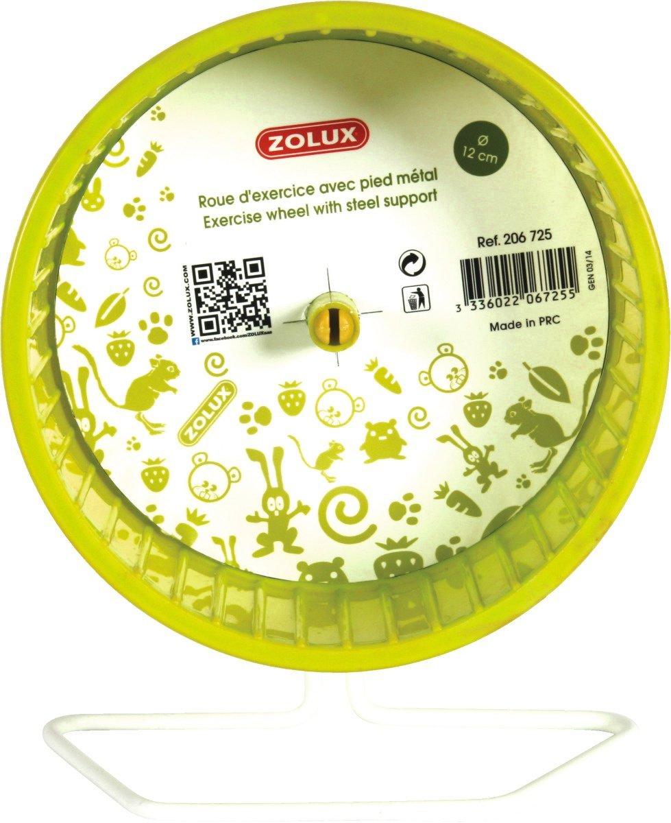 Zolux Roue Pied en Metal pour Petit Mammifere Vert 23x14x26cm 206727