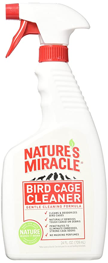 Nature's Miracle Cage Cleaner For Birds 24 Ounces, Gentle Formula