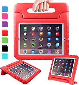 """AVAWO Kids Case for 9.7"""" iPad 2 3 4 (Old Model) - Light Weight Shock Proof Convertible Handle Stand Kids Friendly for iPad 2, iPad 3rd Generation, iPad 4th Generation Tablet - Red"""
