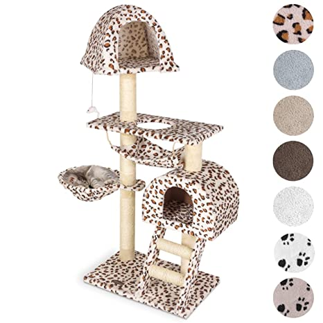 Happypet Árbol Gimnasio para gatos de Sisal, rascador, tamaño mediano grande, 130 x