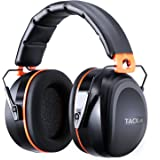 Ear Defenders, Tacklife HNRE1 Hearing Protection Comfortable 34dB SNR Noise Canceling Ear Muffs, Fits Adult and Kids for Shooting, Construction, Reading, Hunting, Studying, Yard Work