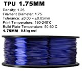 3D Flexible TPU 0.8KG 1.75mm Transparent Blue