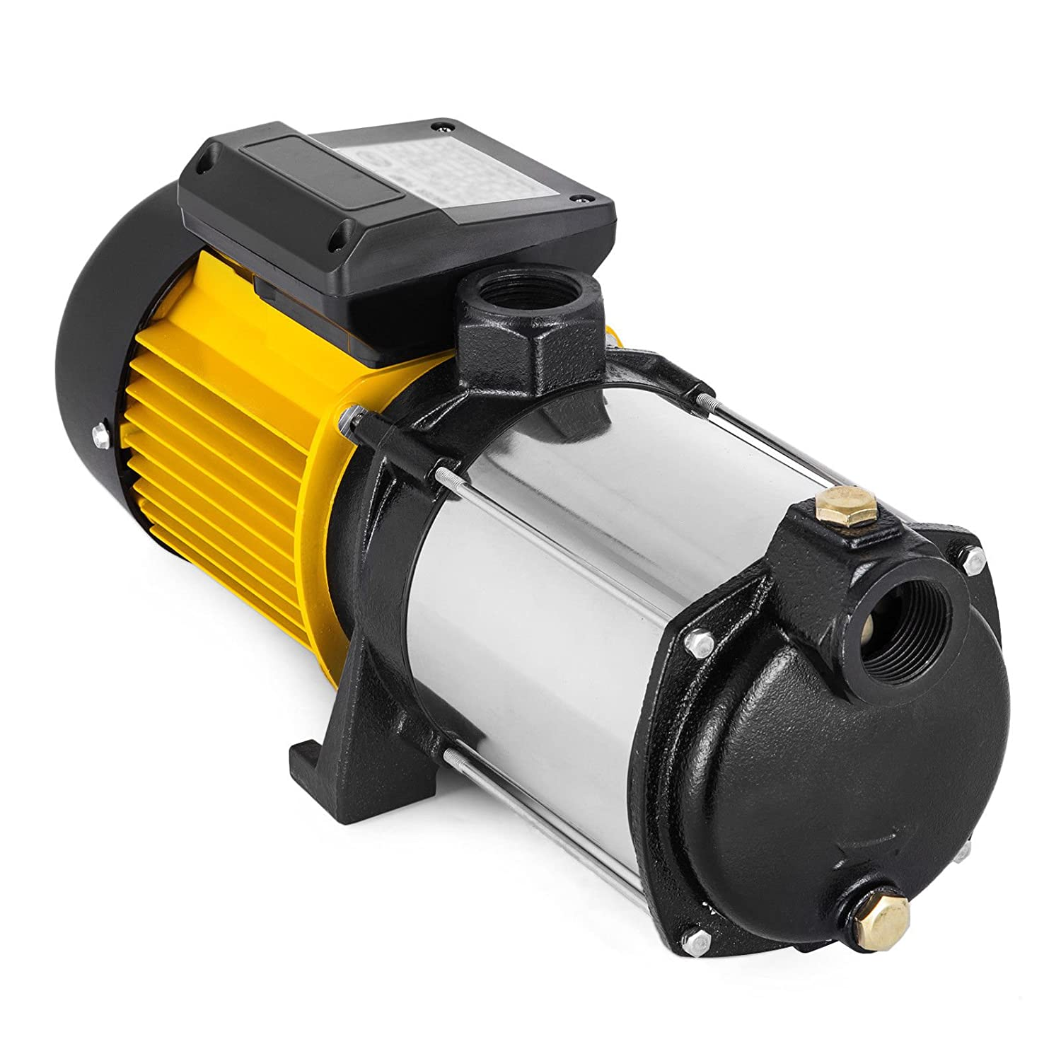 Hopopular MC-2200 Centrifugal Booster Water Pump 9600 L/H Farm with Pressure Switch Jet Pump 2200W Well Garden Water Pump (MC-2200 with Pressur Switch)