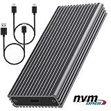 NVMEエンクロージャ、エンクロージャ付きUSB Cアダプタへの10Gbps M.2 NVME SSD、PCIe 3.1 x 2ブリッジChiへの高性能USB 3.1 Gen 2、Samsung 970 EVO/PRO用 (black)