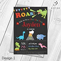 Dinosaur Party Invitations | Personalised Birthday Invites for Joint or Single Party
